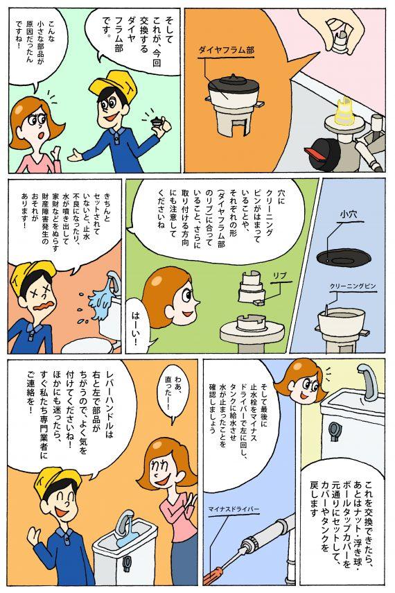 ダイヤフラムの清掃方法