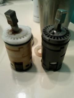 混合水栓カートリッジ交換