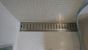 浴室排水口のお掃除終了