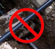 古い水道管が危ない