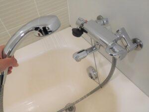 シャワーで洗う